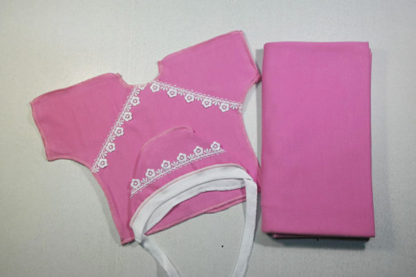 Комплект 3 предмета теплый розовый