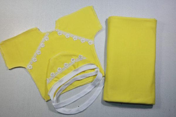 Комплект 3 предмета теплый желтый