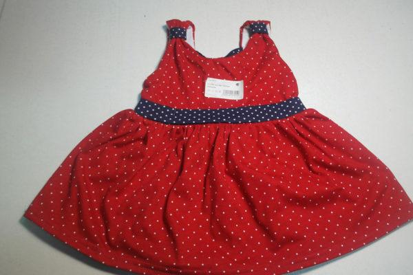 Платье горошек красное