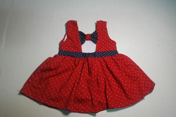 Платье горошек красный